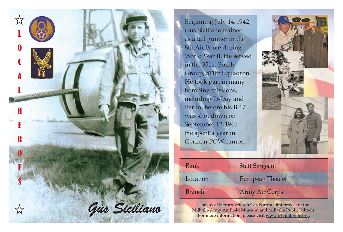 Local Heroes Veteran Cards - Millville Airshow